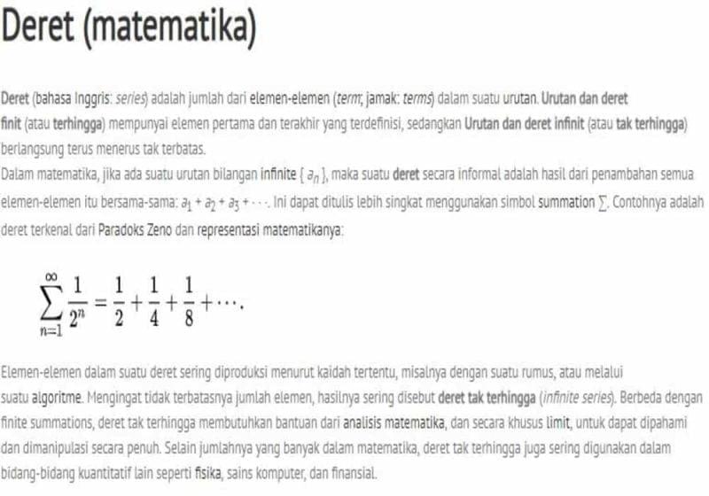 Deret Matematika