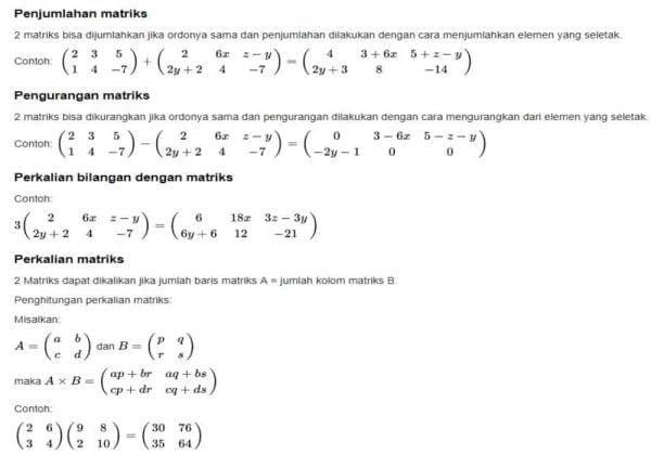 Perhitungan Matriks