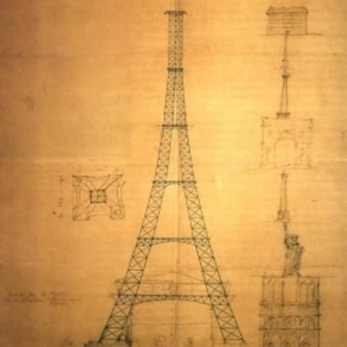 Sketsa pertama menara Eiffel