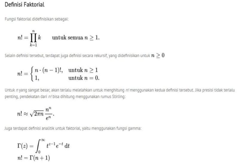 Faktorial matematika