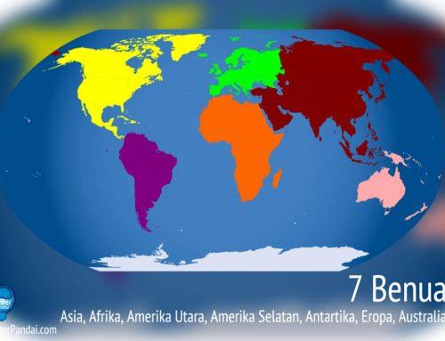 Benua di Dunia – Daftar Lengkap, Peringkat benua terbesar berdasarkan area dan negara terbanyak