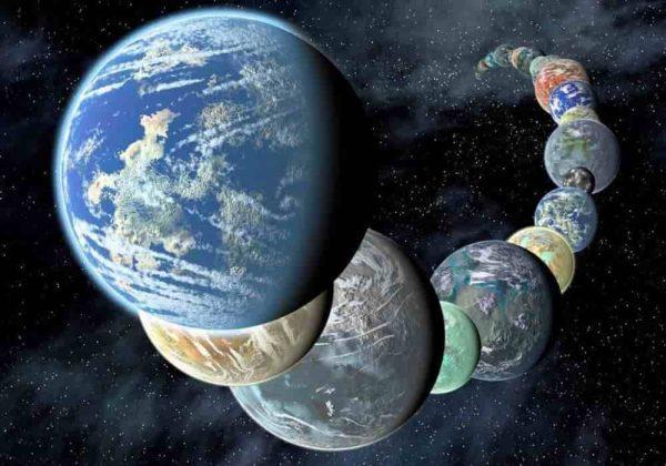 Ilustrasi planet seperti bumi