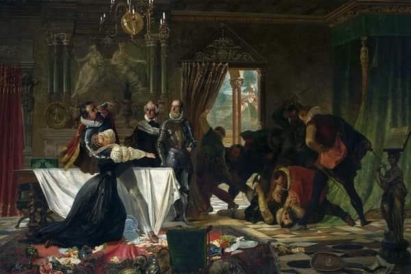 Lord Darnley membunuh sekretaris Mary di hadapan matanya