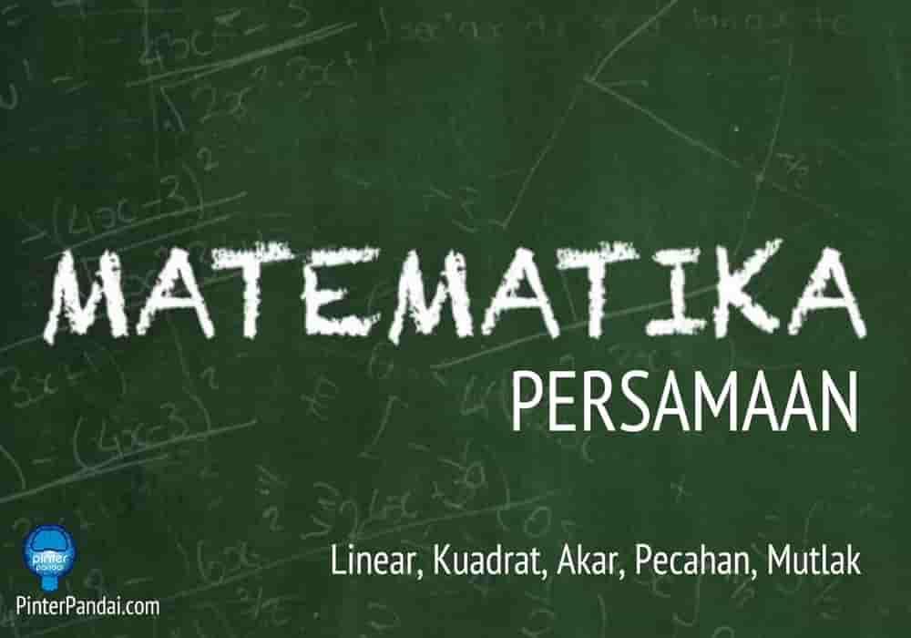Persamaan matematika