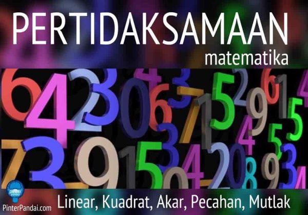 Pertidaksamaan matematika 2