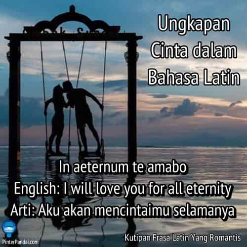 Ungkapan cinta dalam bahasa Latin - mencintai selamanya