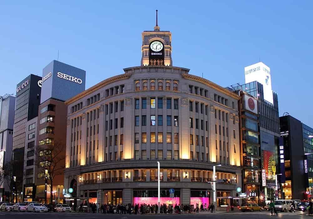 Wako tokyo shopping mall ginza