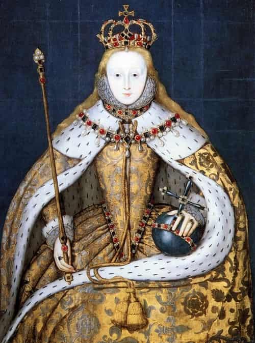 Baju, mahkota penobatan ratu elizabeth I