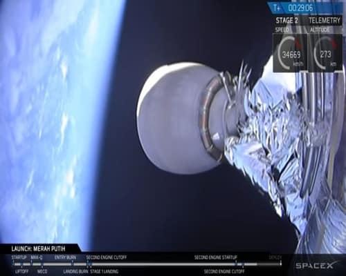 peluncuran satelit merah putih