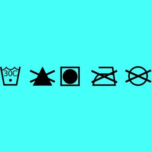 Simbol cuci baju tekstil