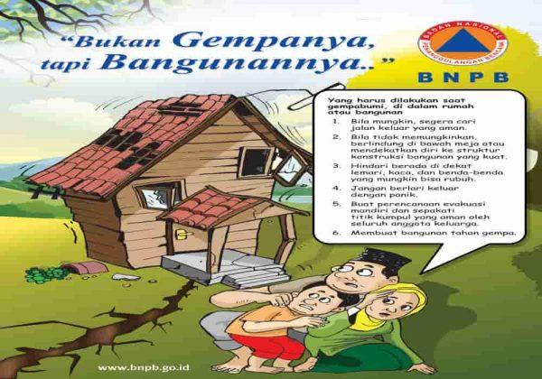 Poster gempabumi BNPB