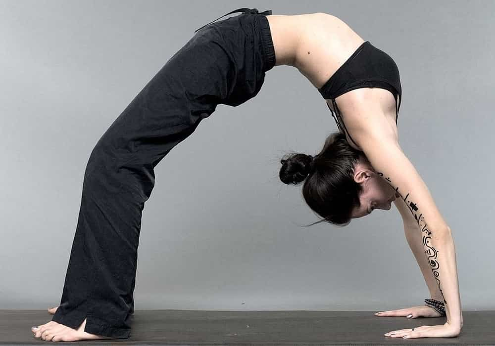 Yoga pose chakrasana asana