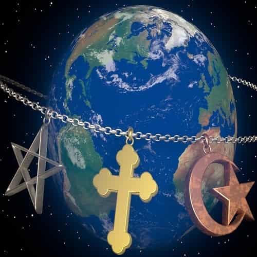 Populasi penduduk dunia berdasarkan agama dan benua