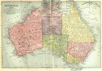 sejarah australia dan map
