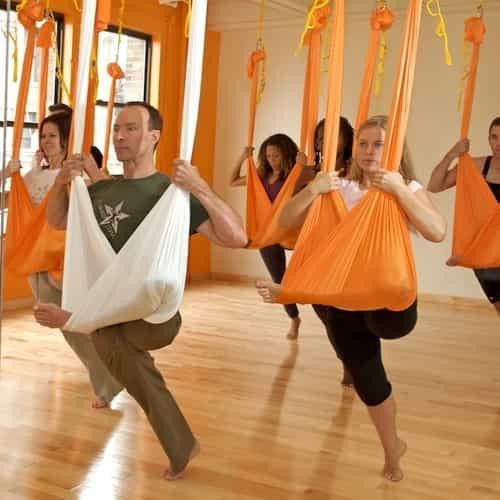 Aerial yoga fly yoga
