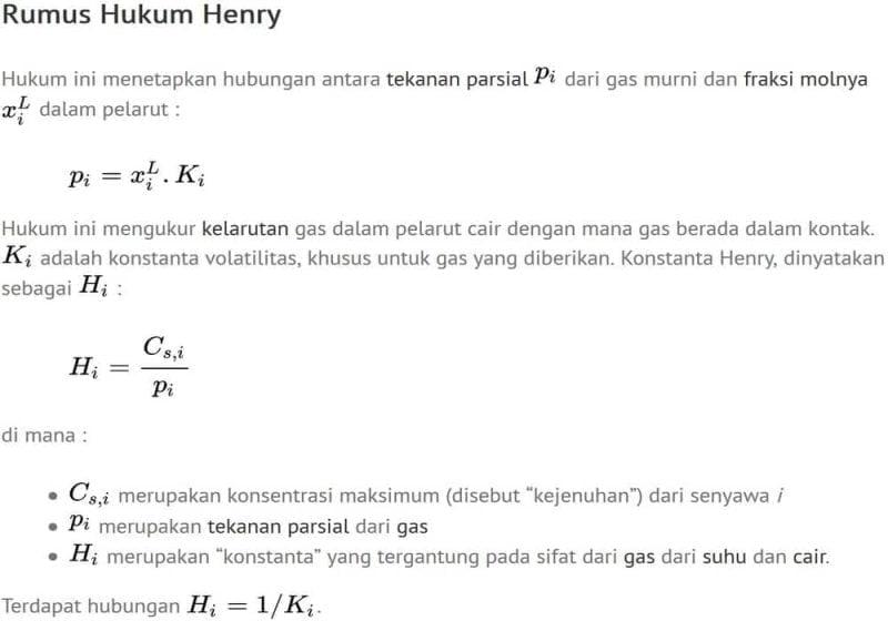Rumus hukum henry