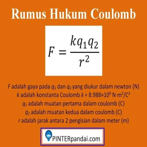 Rumus hukum Coulomb