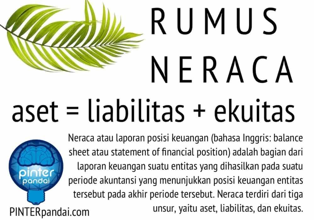 Rumus Neraca Akuntansi Balance Sheet Contoh Soal Jawaban