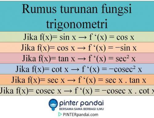 Turunan Trigonometri – Rumus Turunan Fungsi Trigonometri – Contoh Soal dan Jawaban