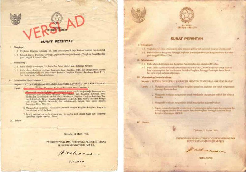 Supersemar surat perintah 11 maret 1966