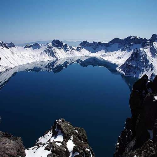 Gunung baekdu korea utara