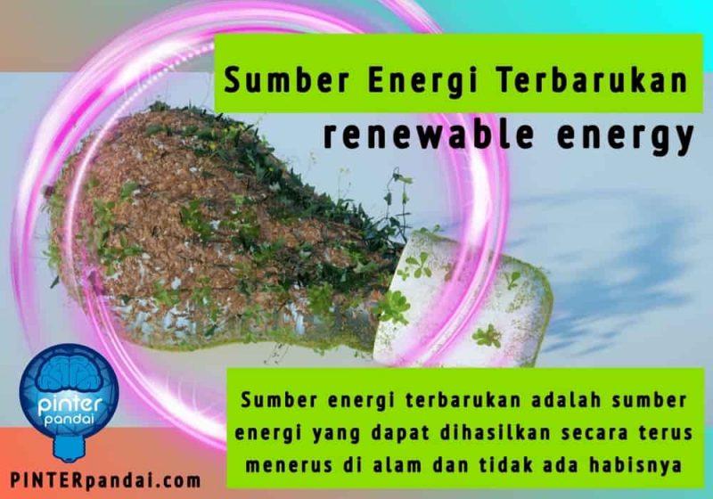 Daftar Sumber Energi Terbarukan (renewable energy) 10 Daftar Pada Umumnya dan 8 yang Digunakan di Indonesia