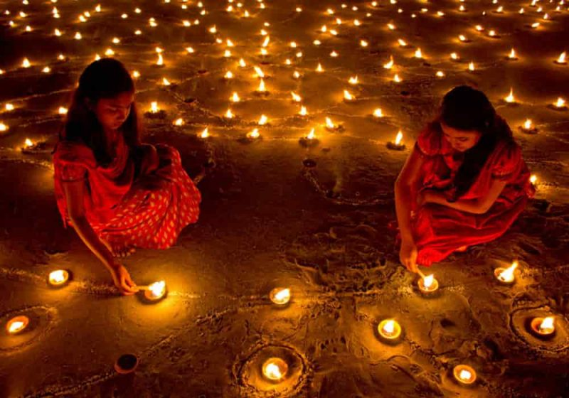Diwali festival cahaya hindu