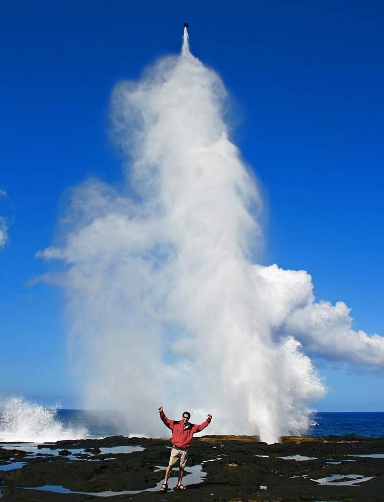Alofaaga lubang sembur blowholes samoa