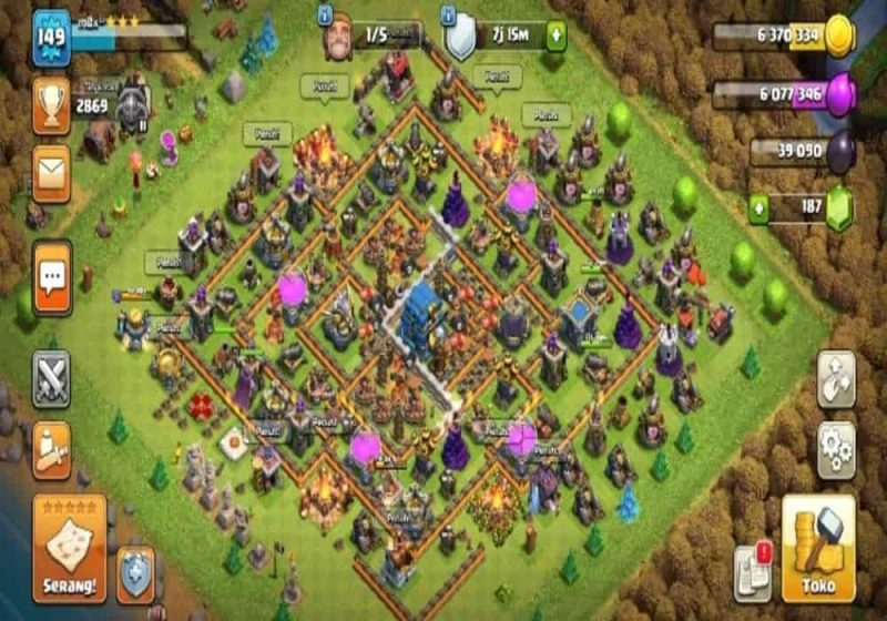Gems clash of clans game