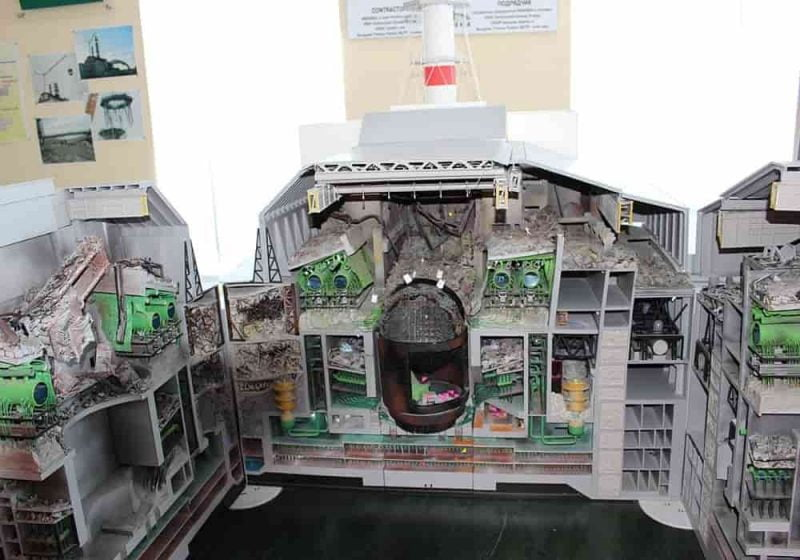 Model reaktor 4 chernobyl bagian dalam