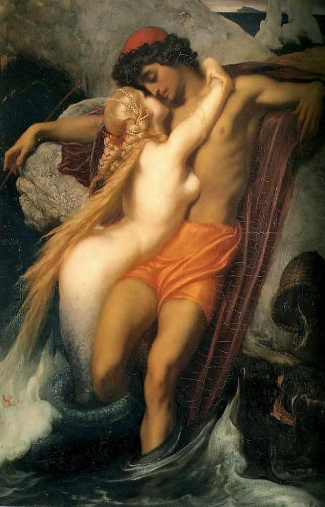 The Fisherman and the Syren dilukis oleh Frederic Leighton pada tahun 1856