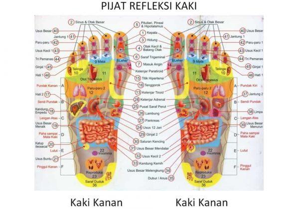 Titik pijat refleksi telapak kaki