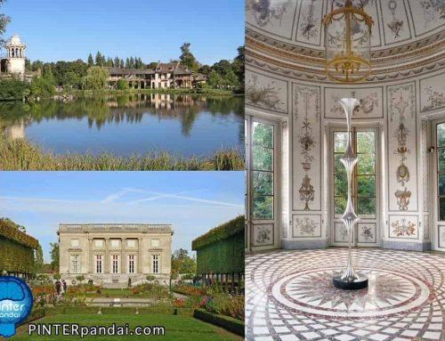 Petit Trianon dan Hameau de la Reine (Dusun Marie Antoinette) terletak di tengah taman Istana Versailles