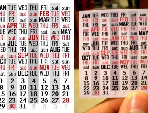 Gunakan Kembali Kalender yang Sama dengan Tanggal, Hari, Bulan Yang Sama | Seberapa sering kalender yang sama identik berulang?