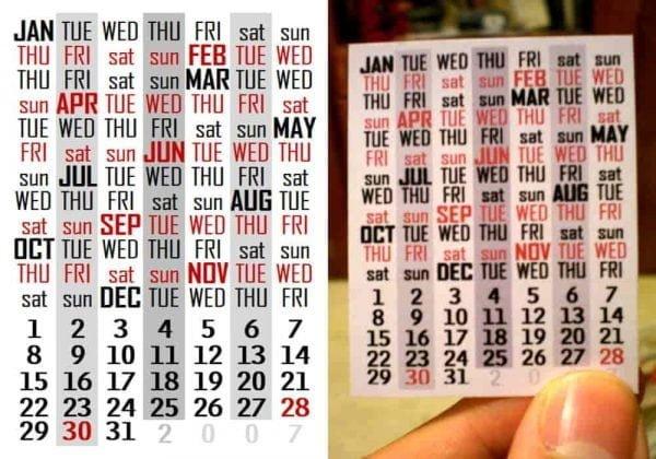 Gunakan Kembali Kalender yang Sama dengan Tanggal, Hari, Bulan Yang Sama   Seberapa sering kalender yang sama identik berulang?